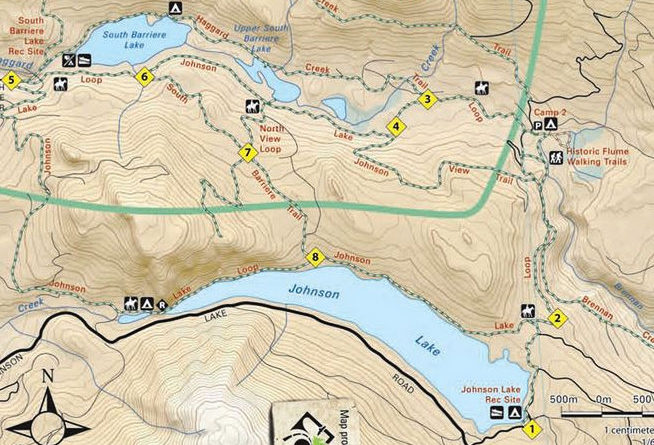 Johnson Lake Trails Kamloops Hiking Club - Johnson lake map